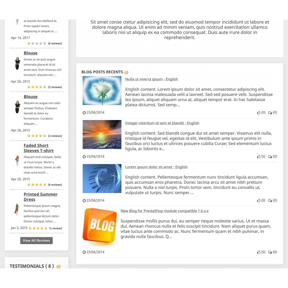 module - Blog, Foro y Noticias - Content Pack (10 in 1) - 6