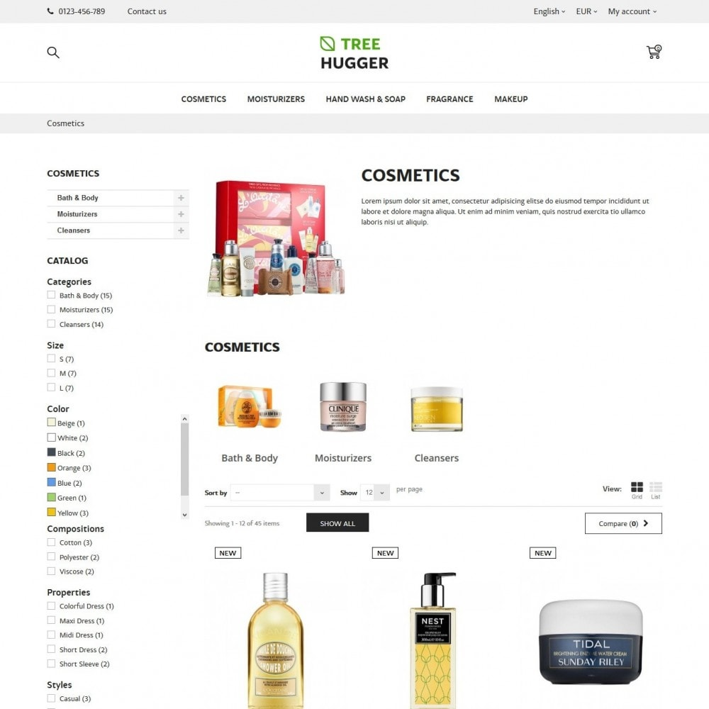theme - Health & Beauty - Tree Hugger Cosmetics - 4
