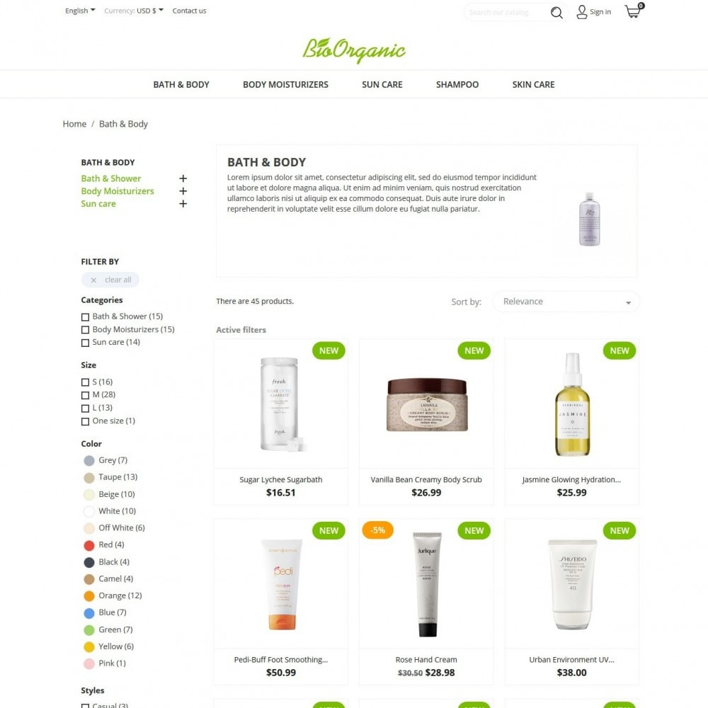 theme - Health & Beauty - BioOrganic - 4