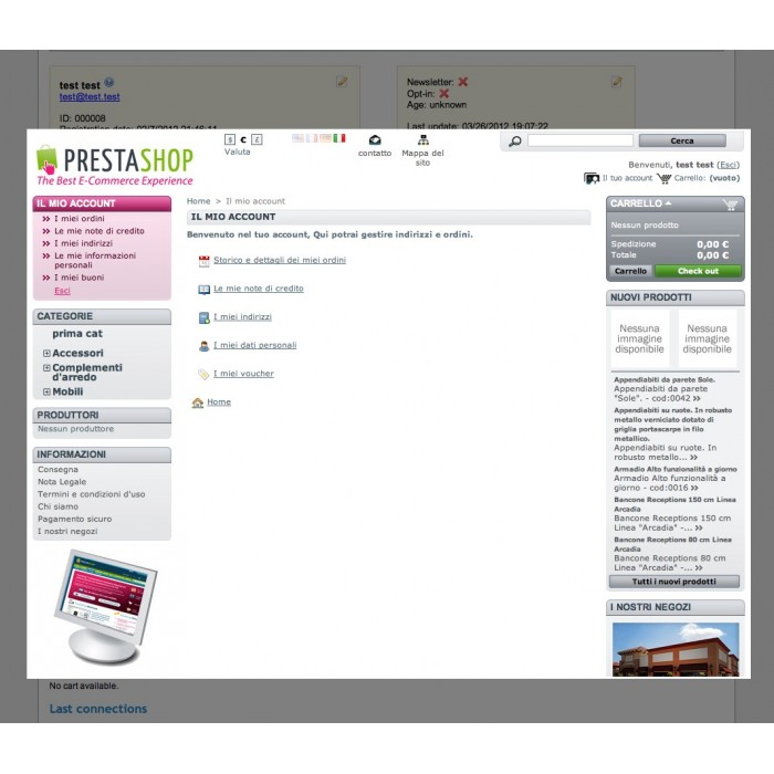 module - Servizio post-vendita - Login As Customer V.2 - 2