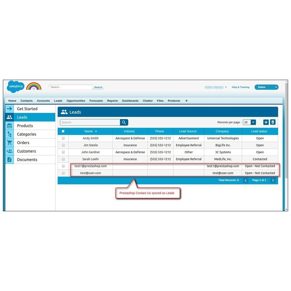 module - Third-party Data Integration (CRM, ERP...) - Salesforce Connector - 26
