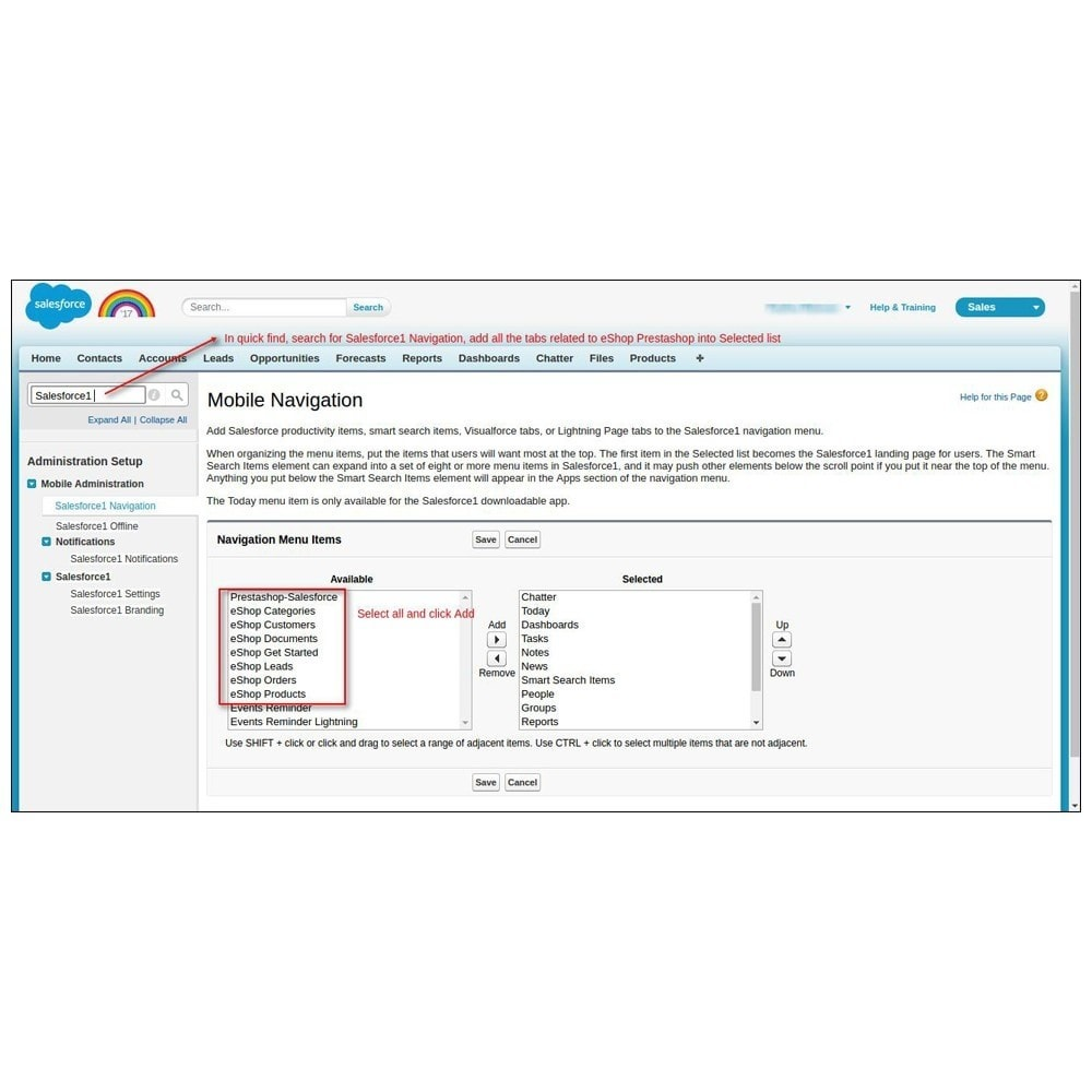 module - Third-party Data Integration (CRM, ERP...) - Salesforce Connector - 34