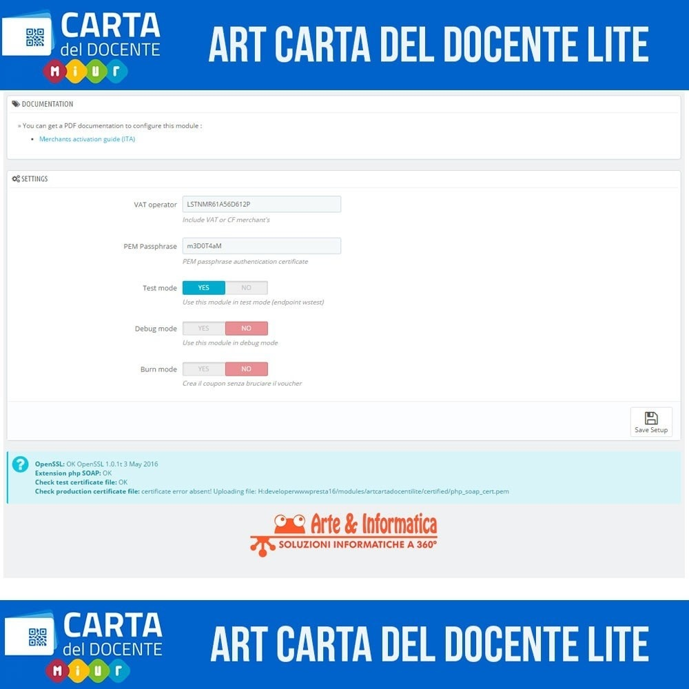 module - Other Payment Methods - Art POS GateWay Carta del Docente Light - 2