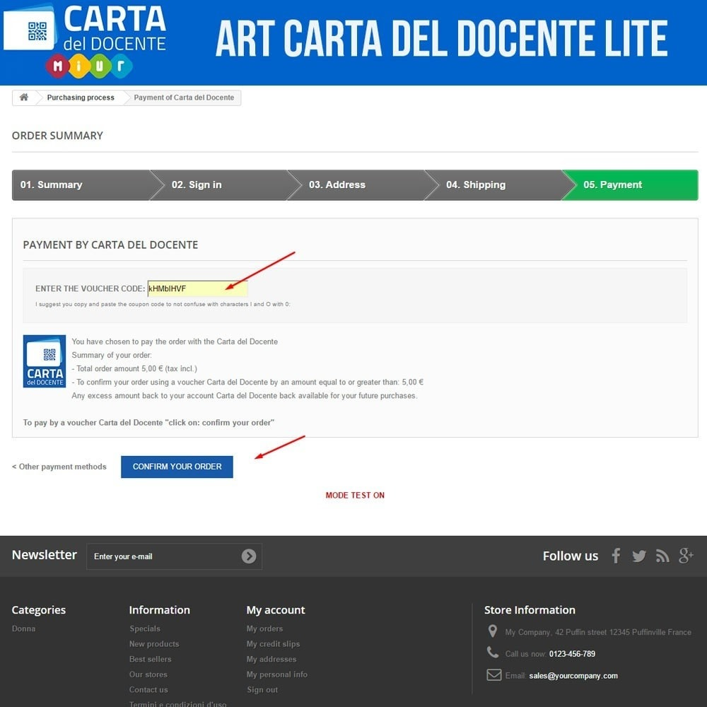 module - Formas de Pagamento Alternativas - Art POS GateWay Carta del Docente Light - 4