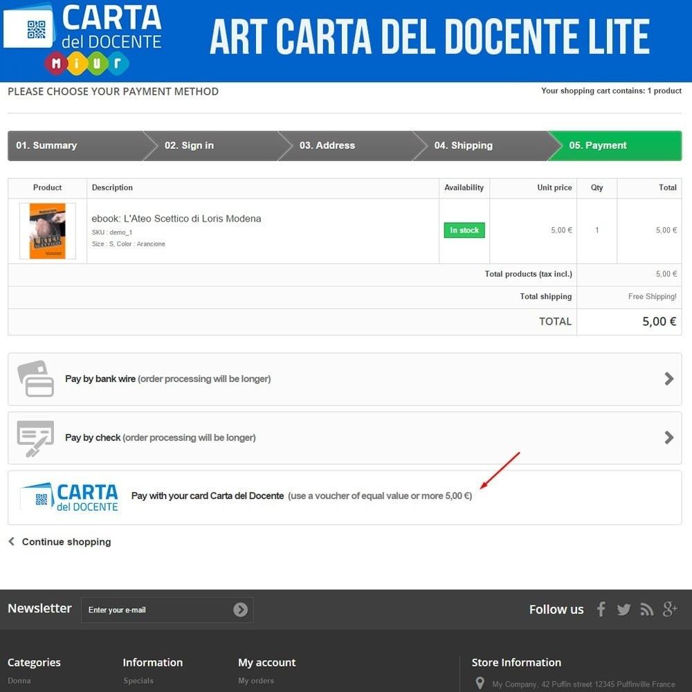 module - Altri Metodi di Pagamento - Art POS per Carta del Docente Light - 2