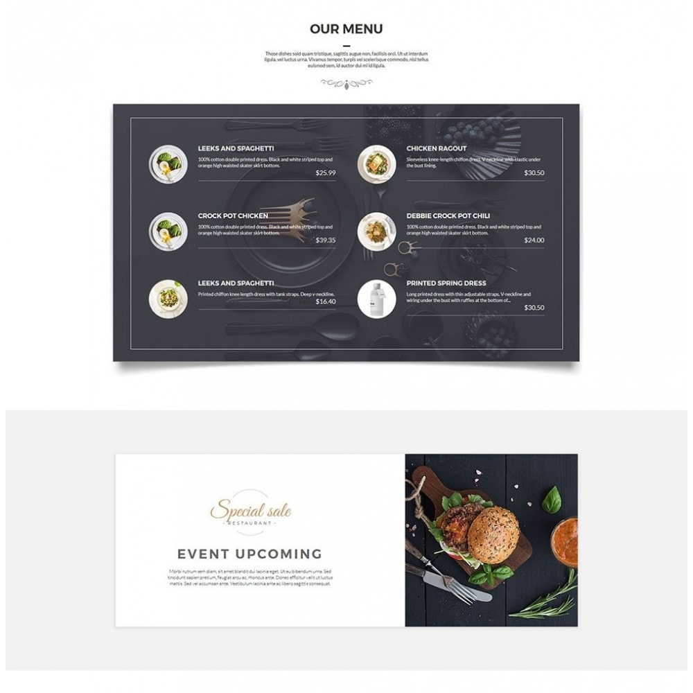 theme - Alimentation & Restauration - JiKo Food & Drink - 4