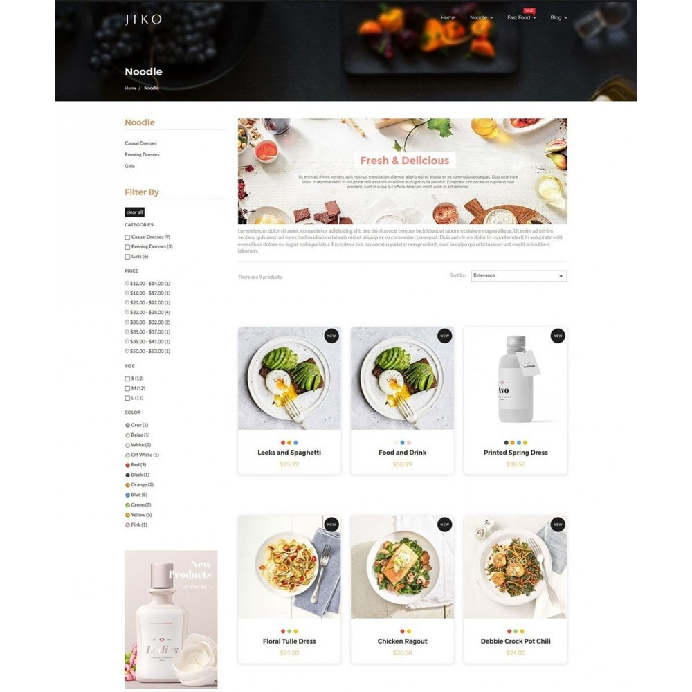 theme - Alimentation & Restauration - JiKo Food & Drink - 6