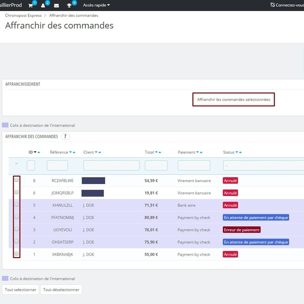 module - Préparation & Expédition - Chronopost API - 2