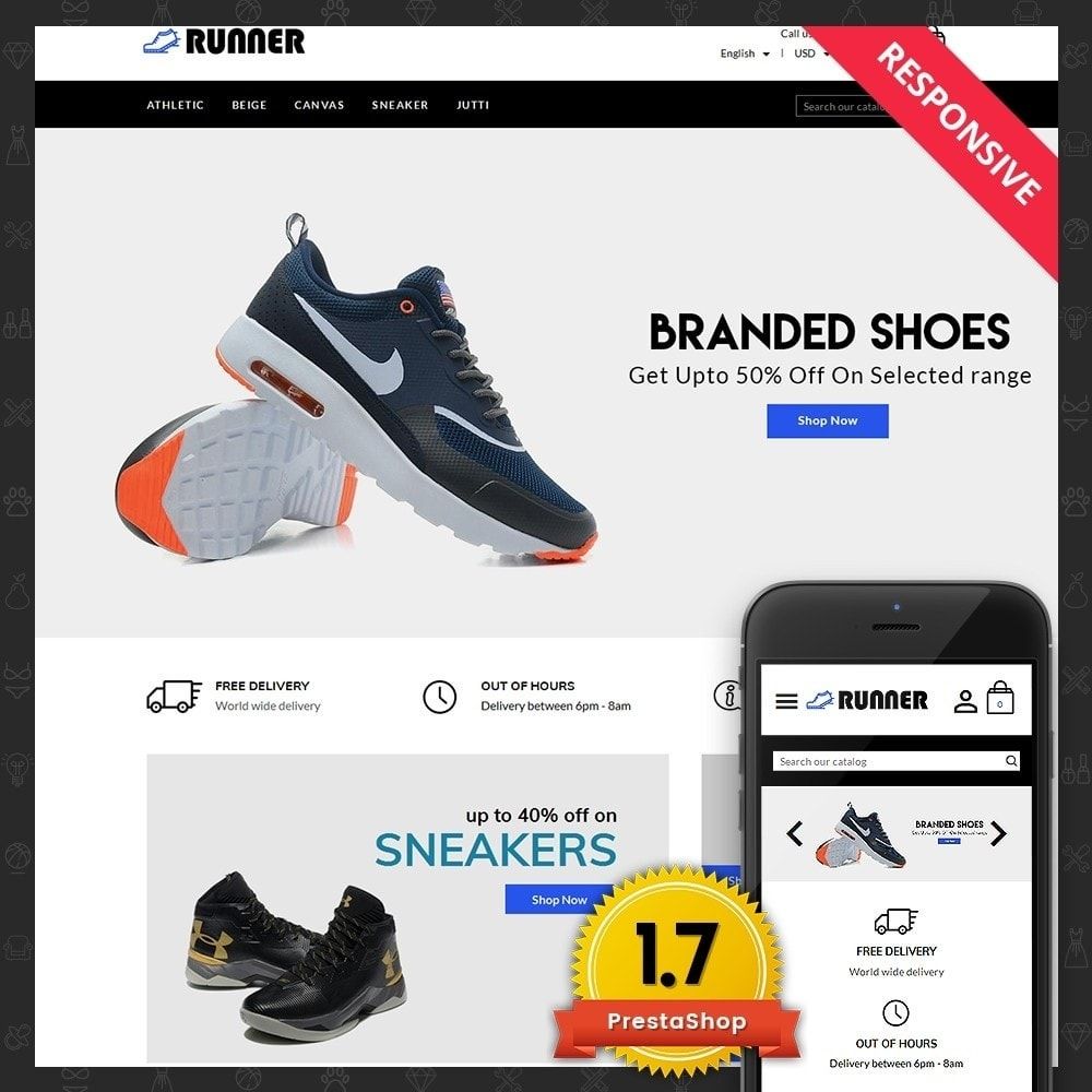 theme - Мода и обувь - Runner Shoes Store - 1
