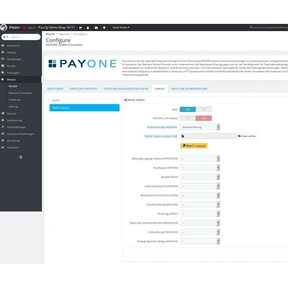 module - Payment by Card or Wallet - PAYONE payment official - 4
