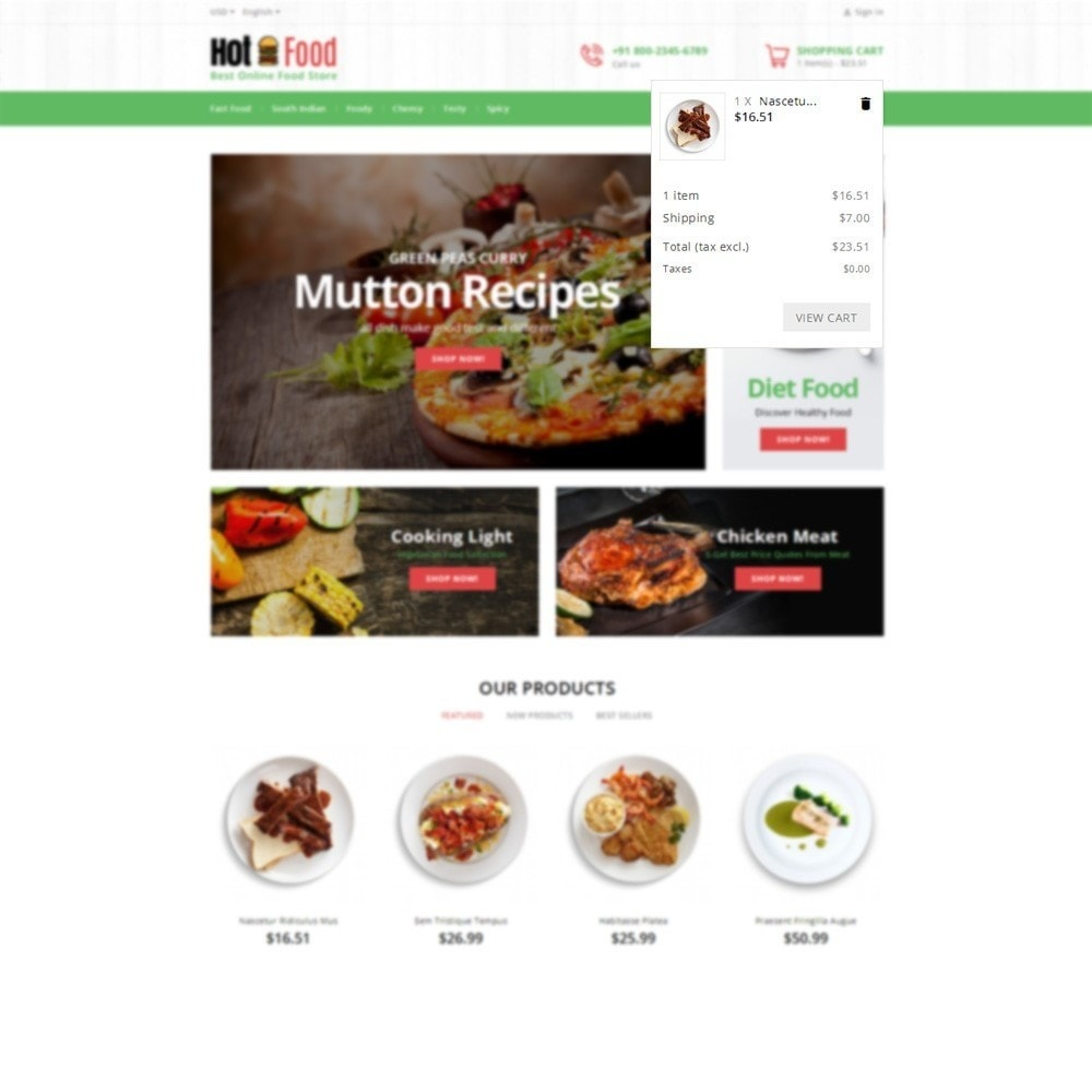 theme - Lebensmittel & Restaurants - Hotfood Demo Store - 6