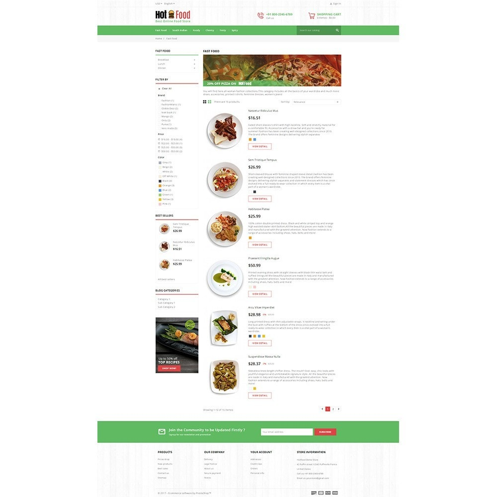 theme - Lebensmittel & Restaurants - Hotfood Demo Store - 4