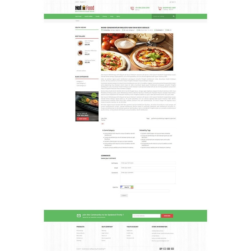 theme - Alimentos & Restaurantes - Hotfood Demo Store - 8