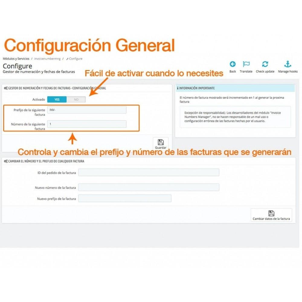 module - Contabilidad y Facturas - Gestiona tus números y fechas de factura libremente - 1