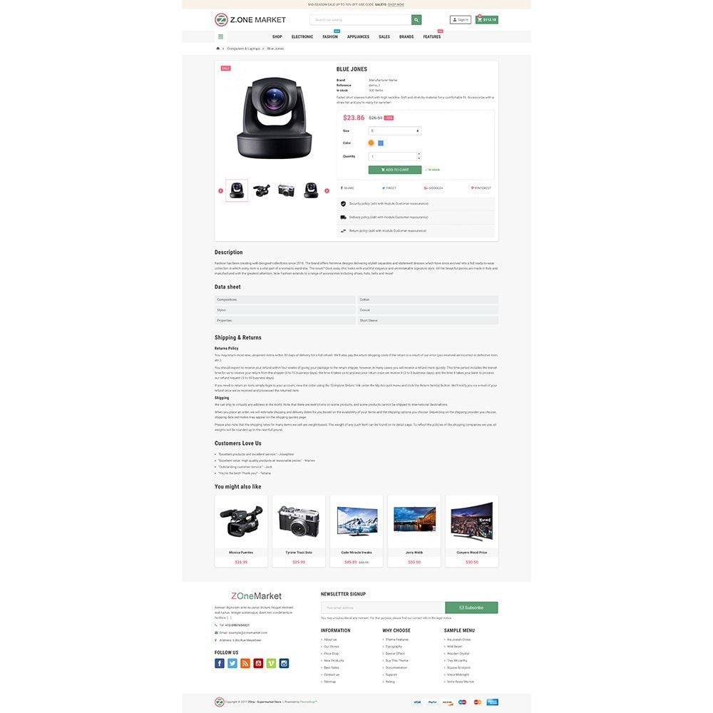 theme - Elektronik & High Tech - ZOne - Supermarket Online Shop - 6