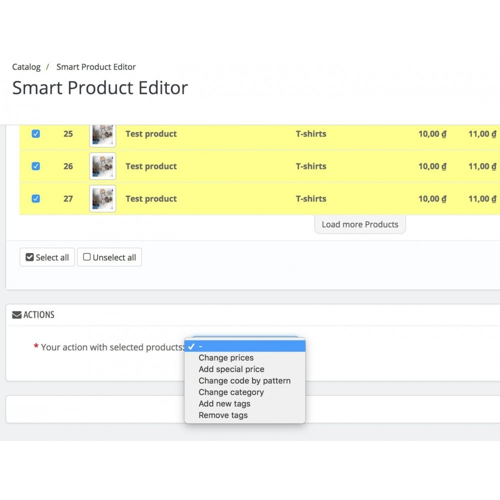 module - Edition rapide & Edition de masse - Smart Product Editor - 6