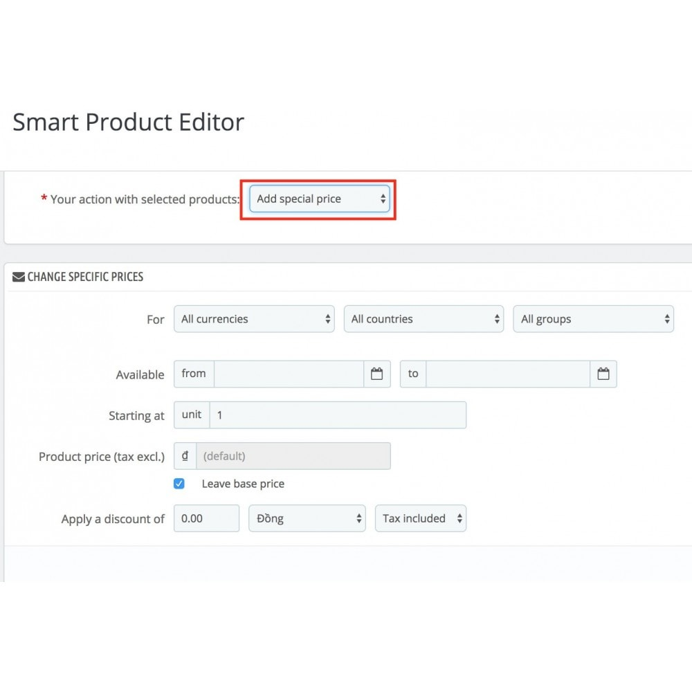 module - Fast & Mass Update - Smart Product Editor - 7