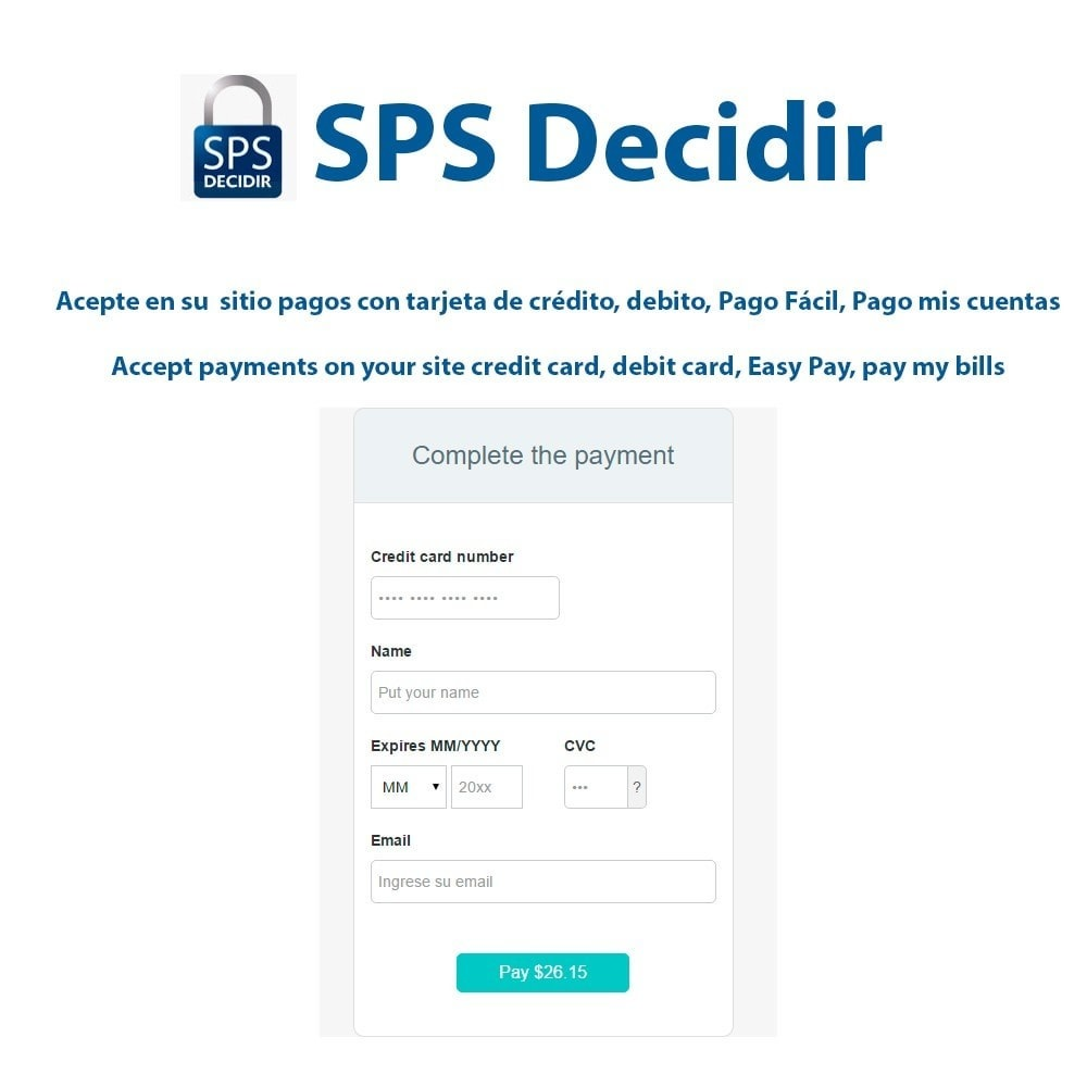 module - Payment by Card or Wallet - Decidir SPS payment gateway - 1