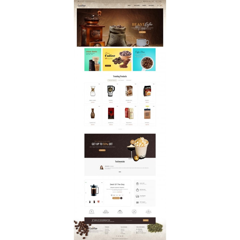 theme - Drink & Wine - Cold Coffee Store - 2