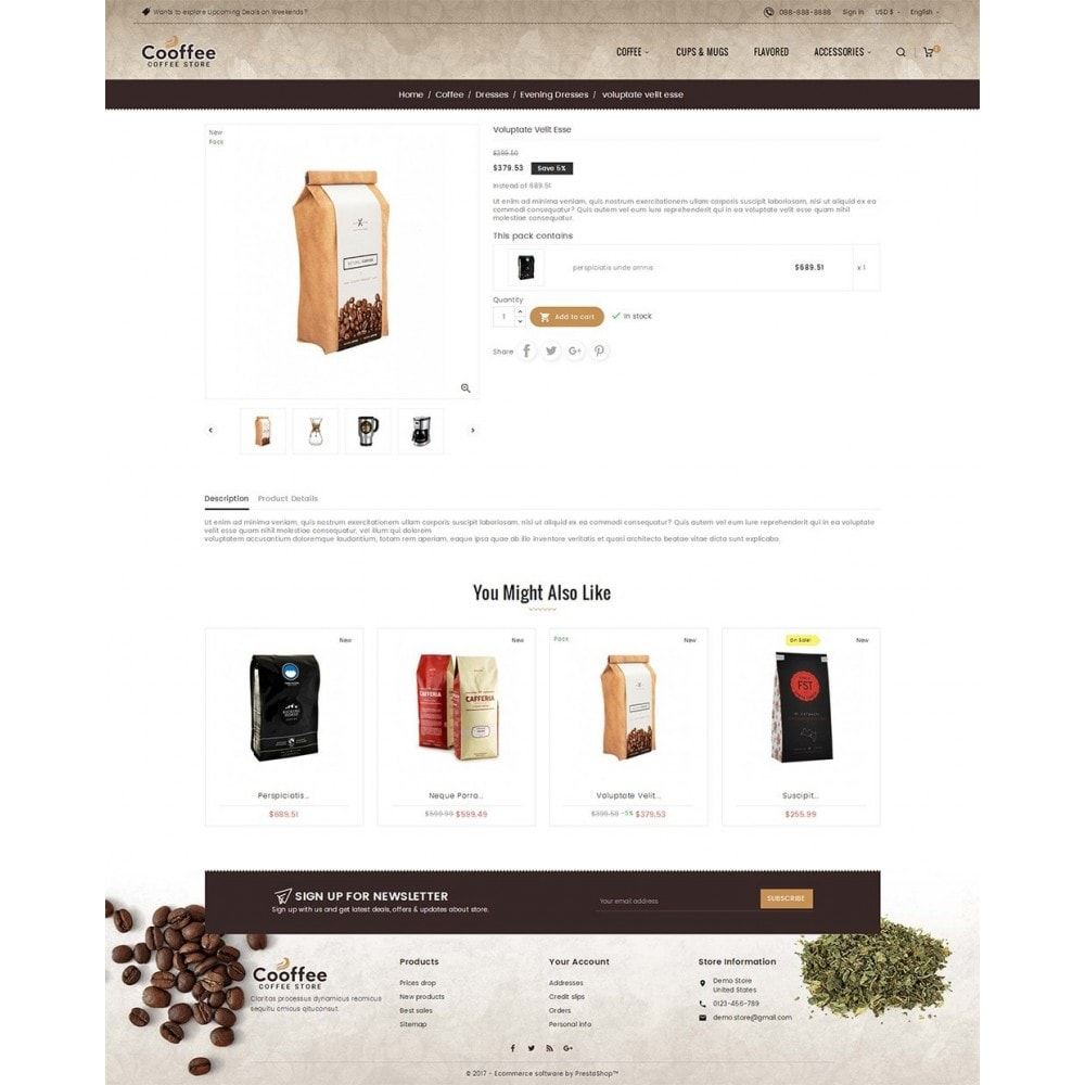 theme - Bebidas & Tabaco - Cold Coffee Store - 5