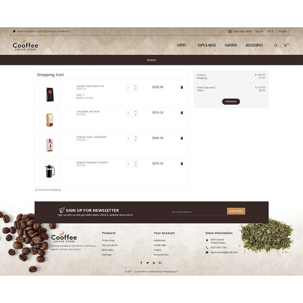 theme - Bebidas y Tabaco - Cold Coffee Store - 6