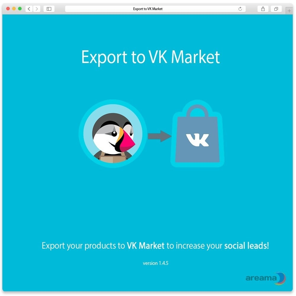 module - Prodotti sui Facebook & Social Network - Export products to VK Market - 1