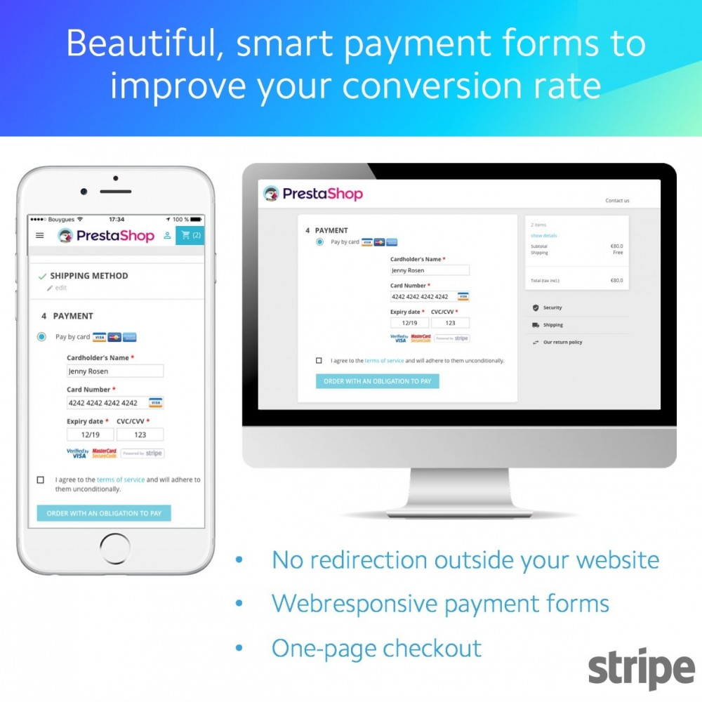 module - Payment by Card or Wallet - Stripe official - 1