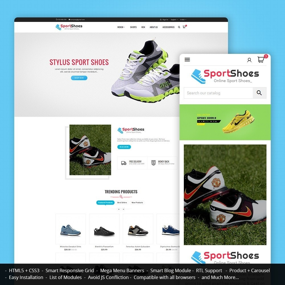theme - Moda y Calzado - Sport Shoes - 1