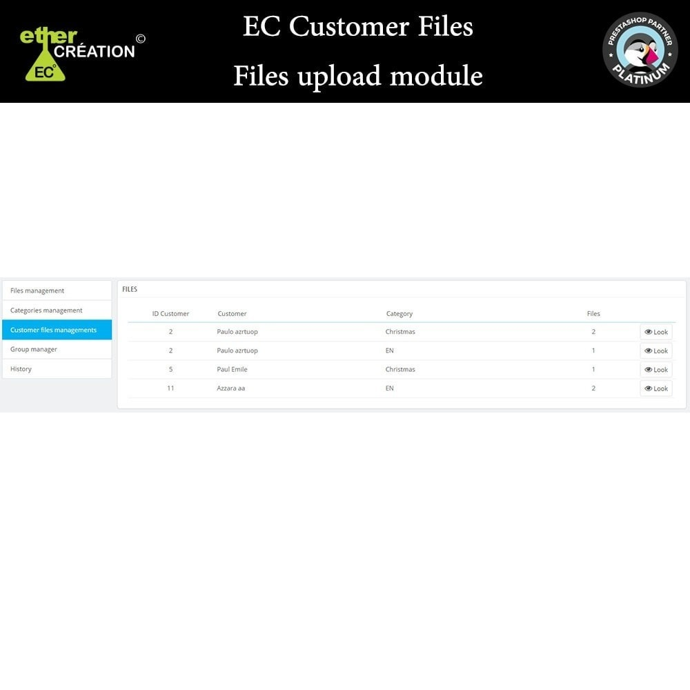 module - Kundenservice - Provision of files for customers - 4