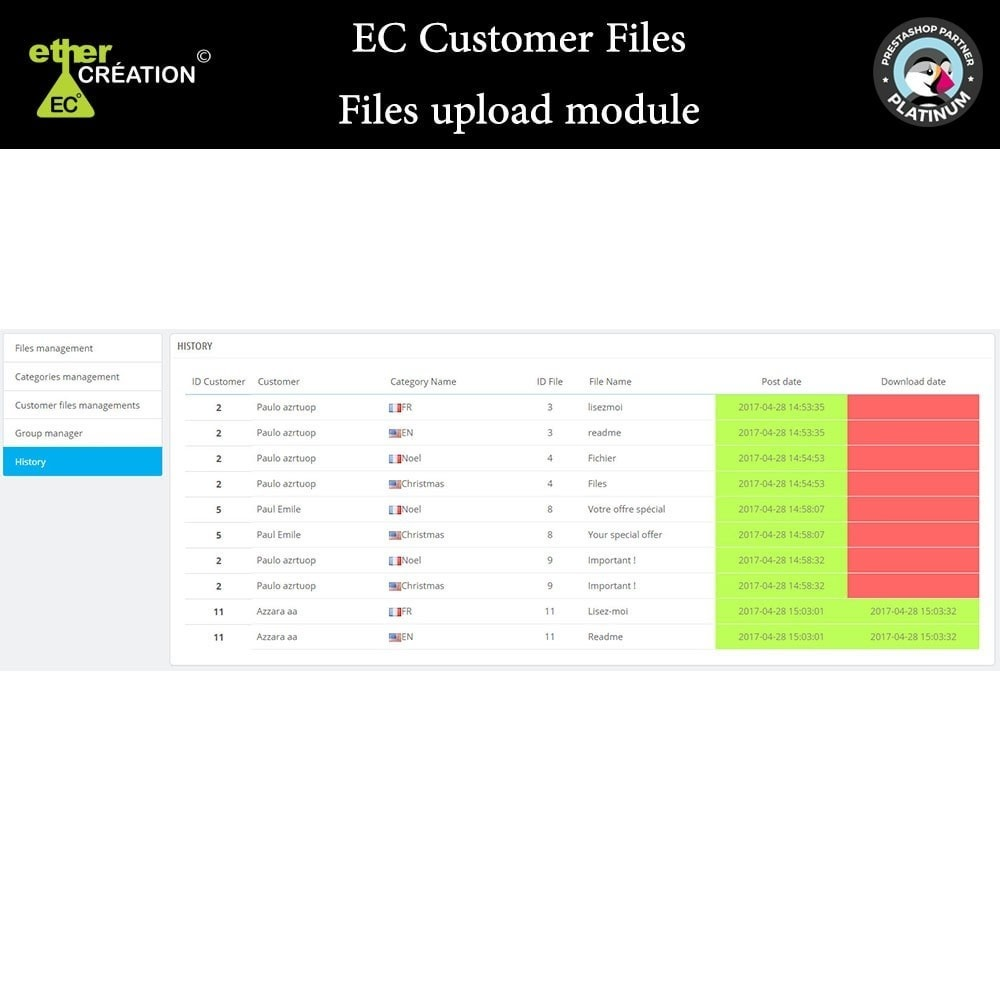 module - Kundenservice - Provision of files for customers - 11