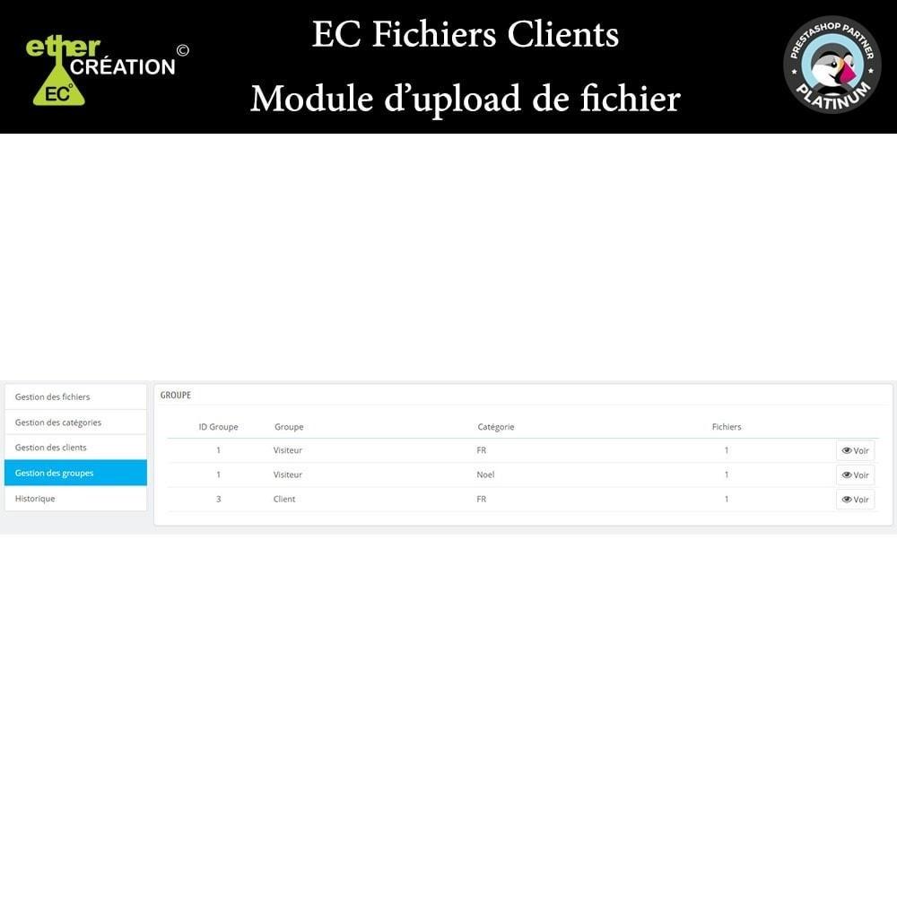 module - Service Client - Mise à disposition de fichiers pour les clients - 10