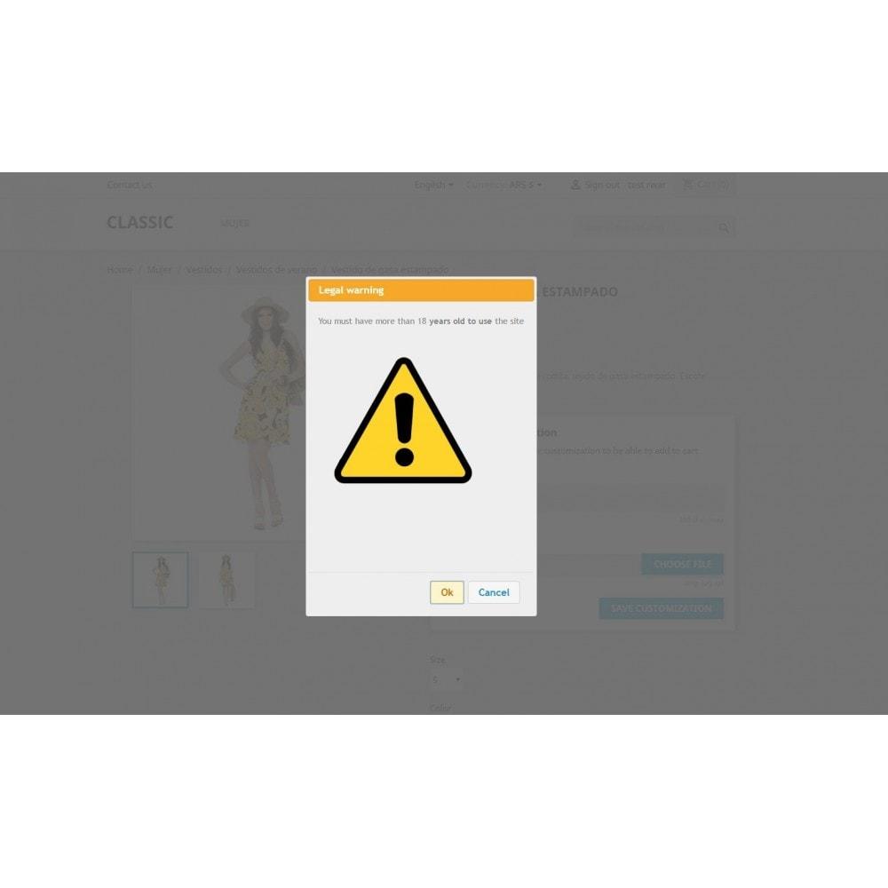 module - Bezpieczeństwa & Dostępu - Legal Warning - Terms popup - 2