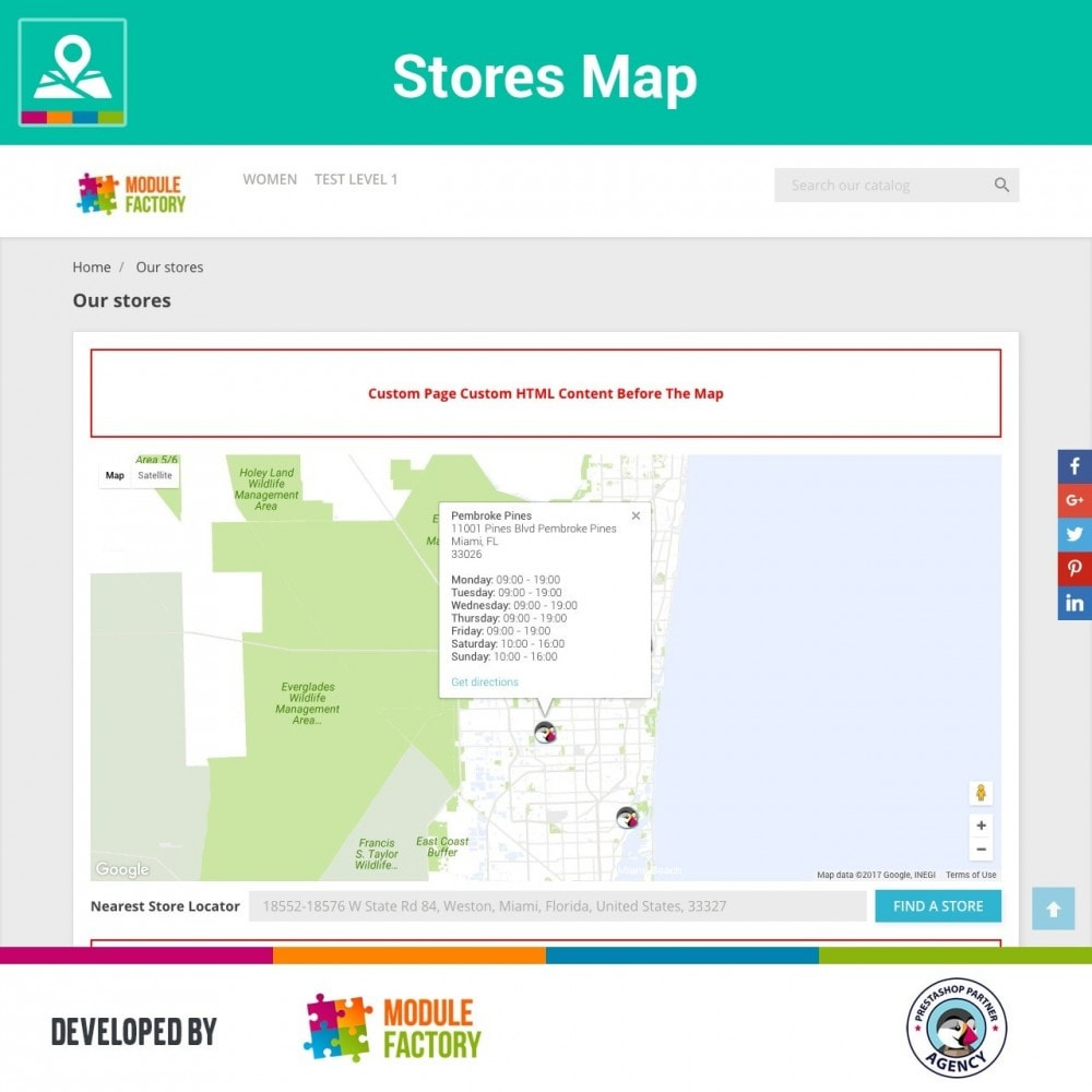 module - International & Localisation - Stores Map on Home Page + Custom Page - 4