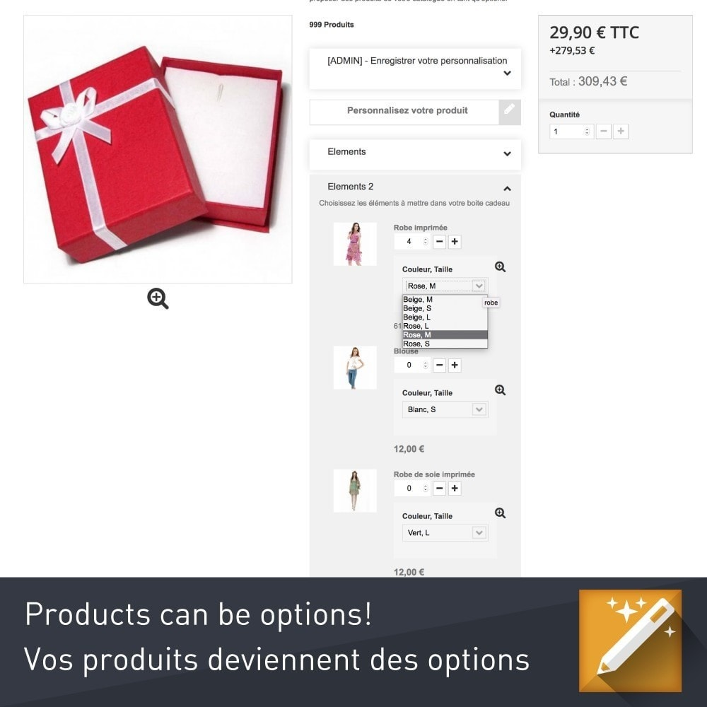 module - Combinaciones y Personalización de productos - Product options and customization - 6