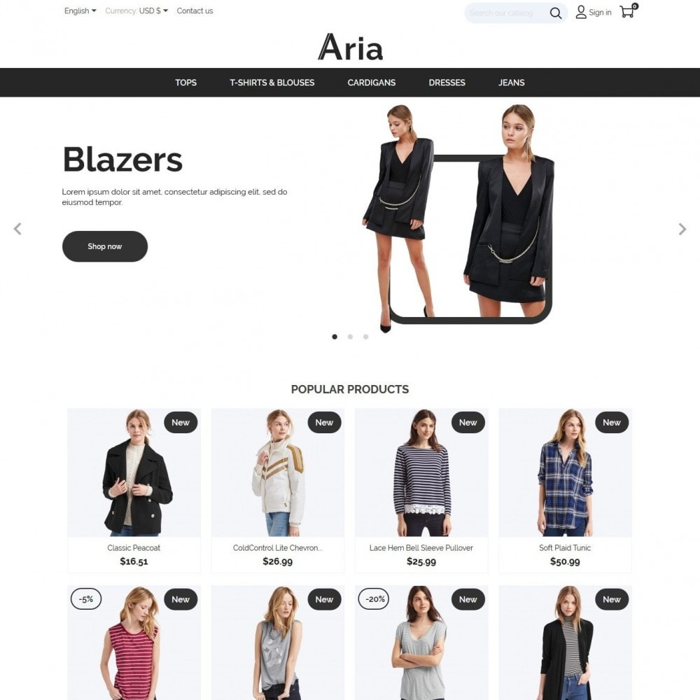 theme - Мода и обувь - Aria Fashion Store - 2