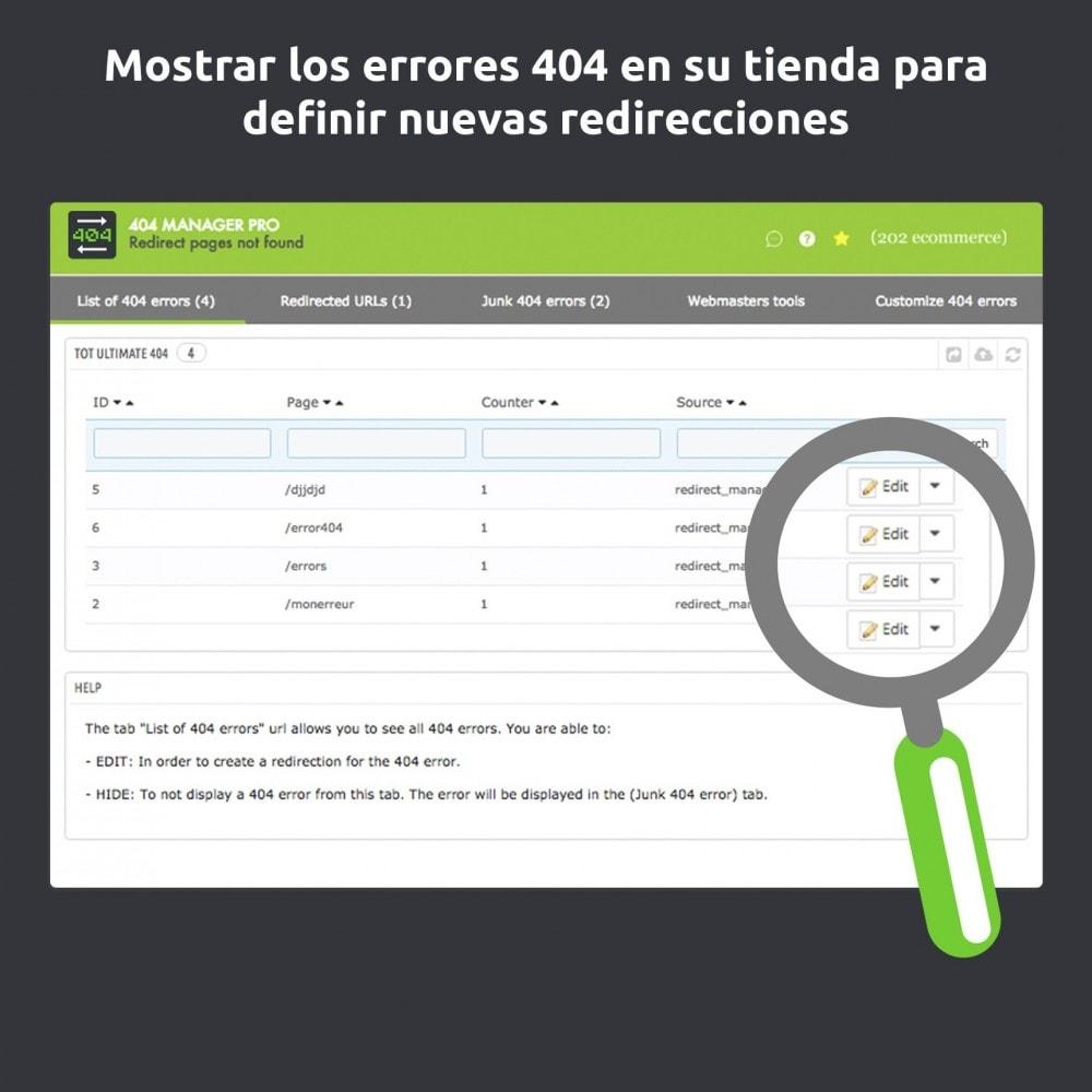 module - URL y Redirecciones - Redirección 404 Manager : Mostrar y redirigir 301,302 - 2