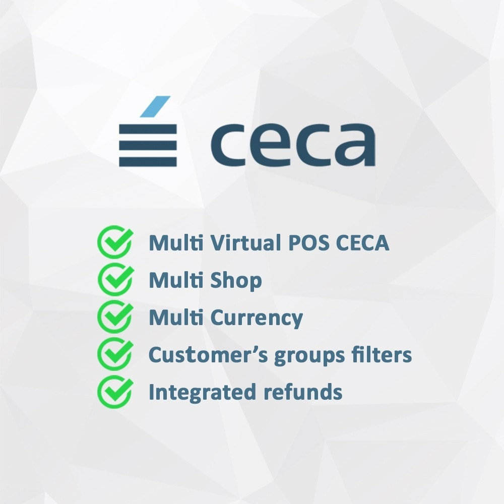 module - Paiement par Carte ou Wallet - Virtual POS / TPV CECA (Secure payments + refunds) - 2