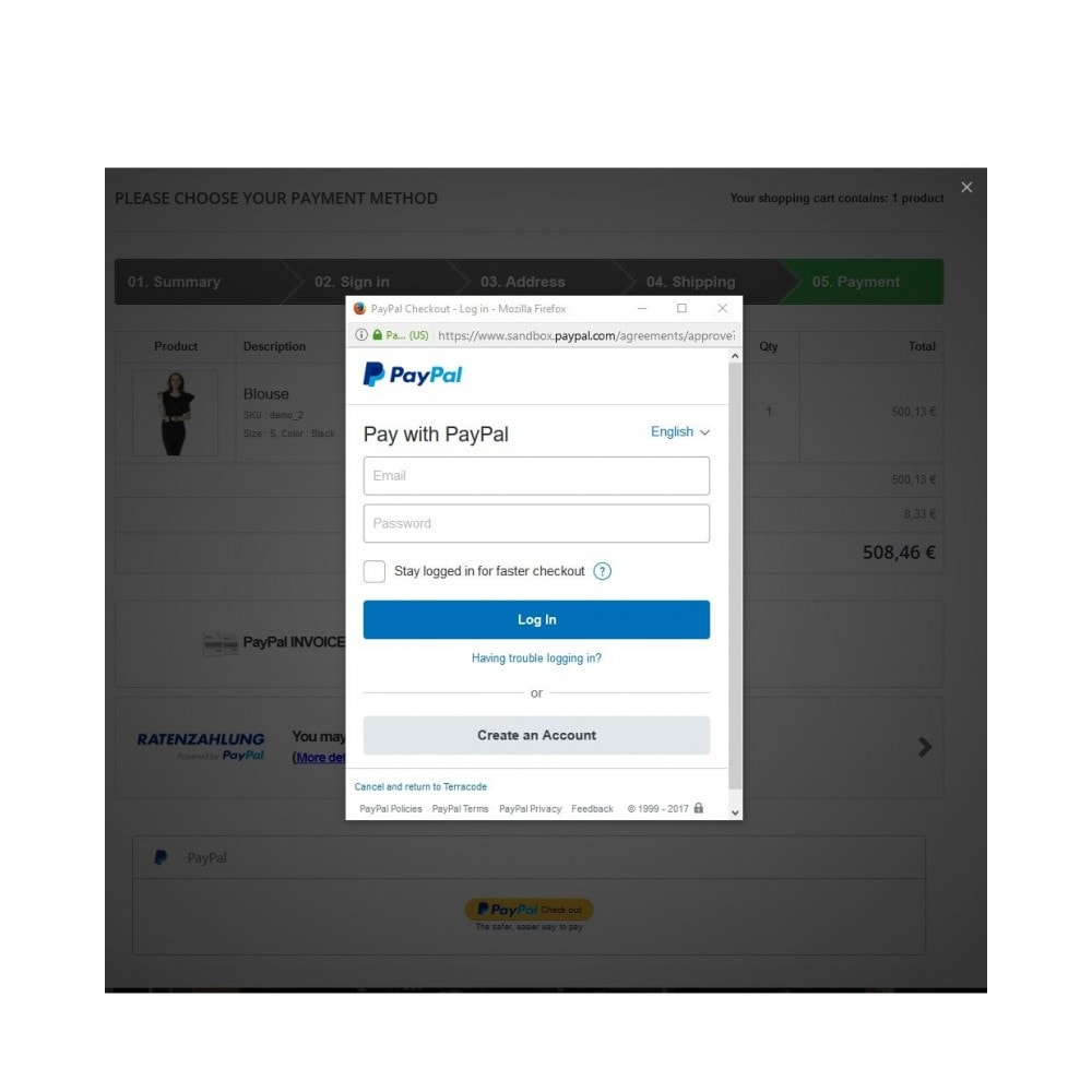 module - Paiement par Carte ou Wallet - BT Plus - Credit Card, PayPal, PayPal Credit, Apple Pay - 5