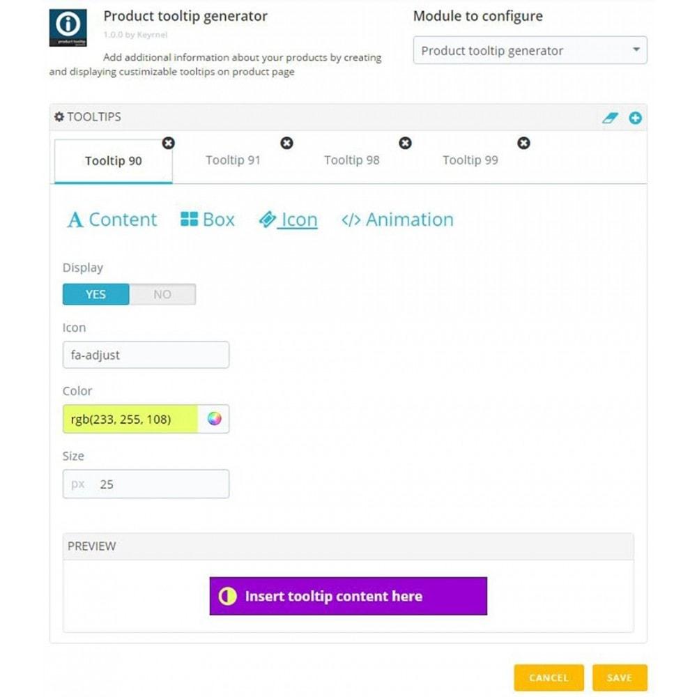 module - Informaciones adicionales y Pestañas - Product tooltip generator - 4