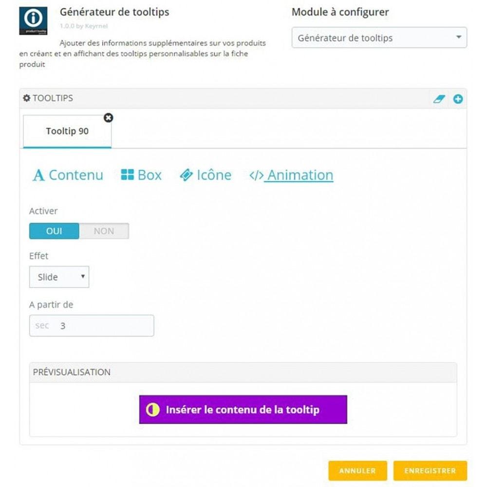 module - Information supplémentaire & Onglet produit - Générateur de tooltips - fiche produit - 5