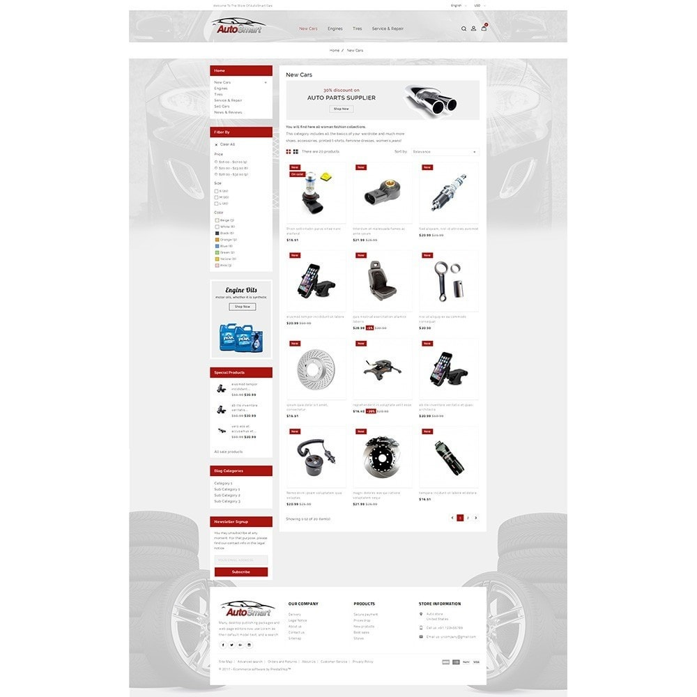 theme - Coches y Motos - Auto smart store - 3