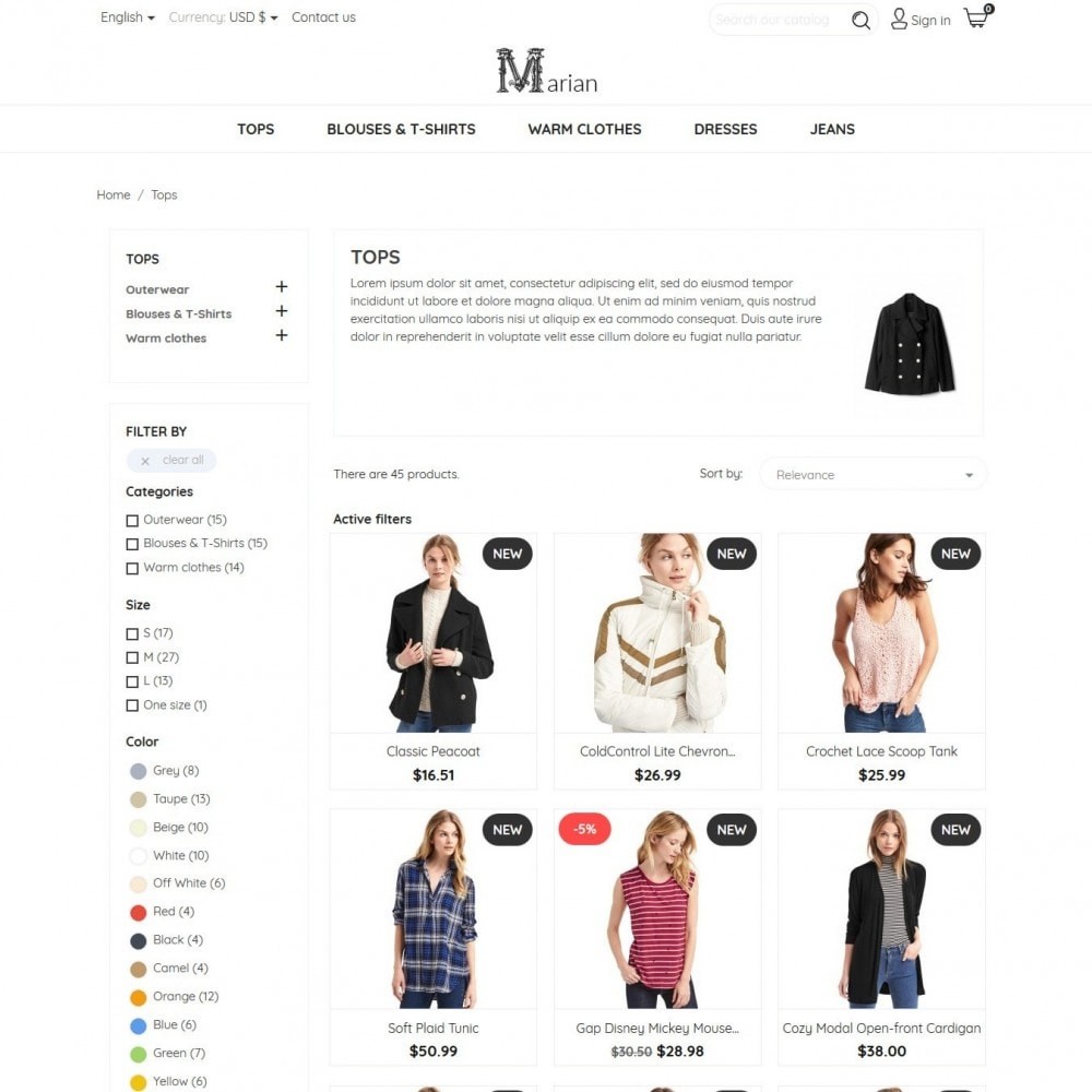 theme - Fashion & Shoes - Marian Fashion Store - 5