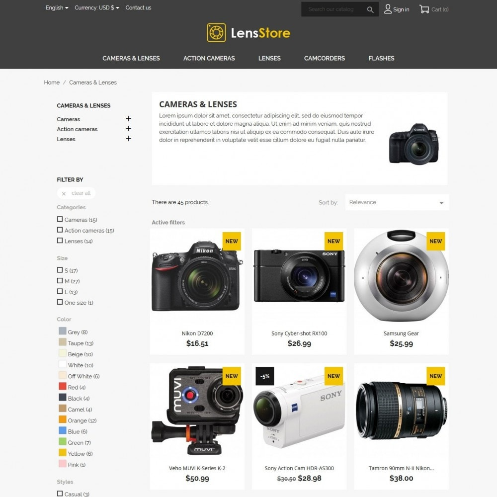 theme - Elektronika & High Tech - LensStore - 5