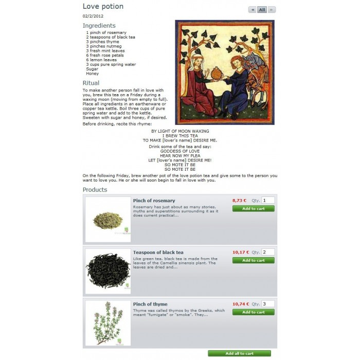 module - Front-Office-Funktionen - Recipe CMS + products list - 1