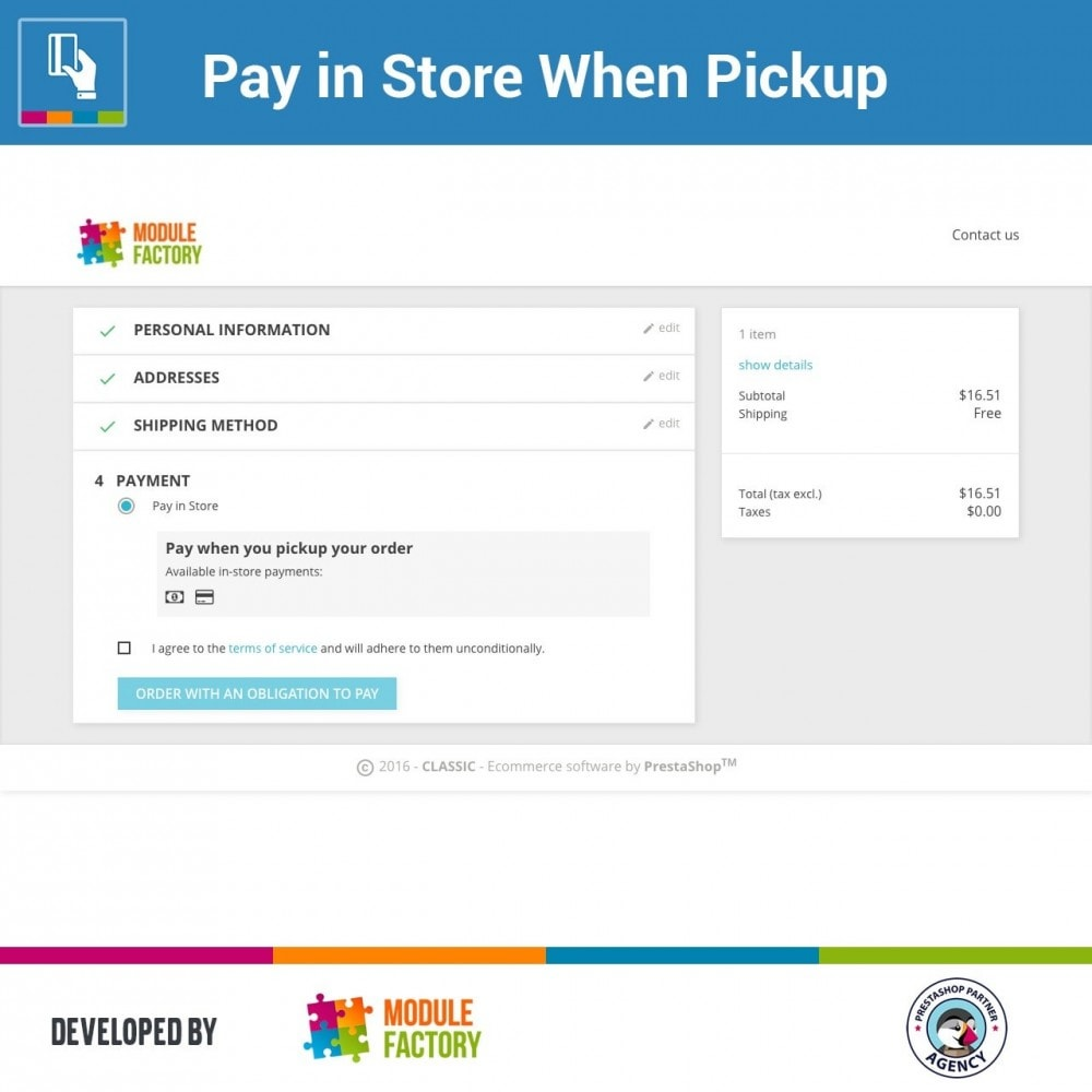module - Paiement en Magasin - Pay in Store When Pickup - 1