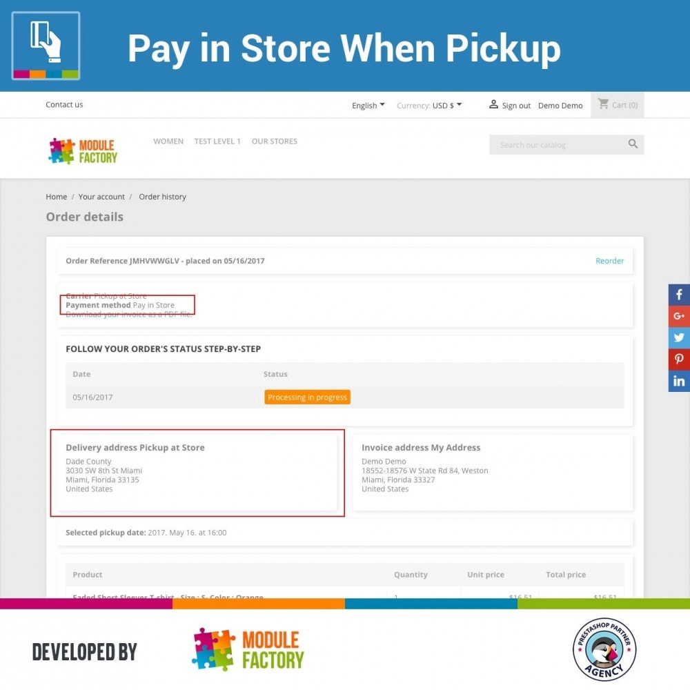 module - Paiement en Magasin - Pay in Store When Pickup - 3