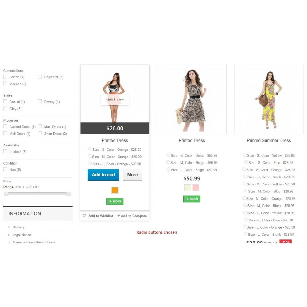 module - Diversificação & Personalização de Produtos - Show attributes / List pages add to cart combination - 6