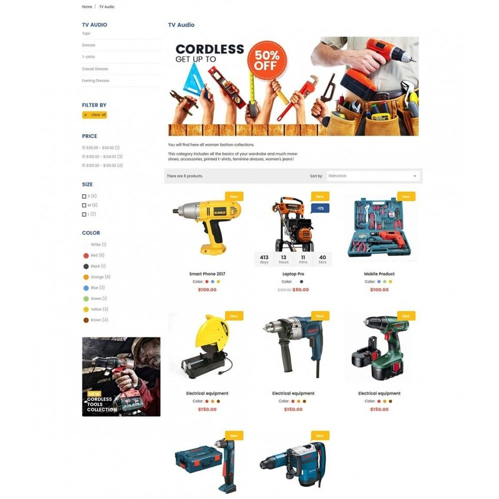 theme - Elettronica & High Tech - Tools Store Classic - 5