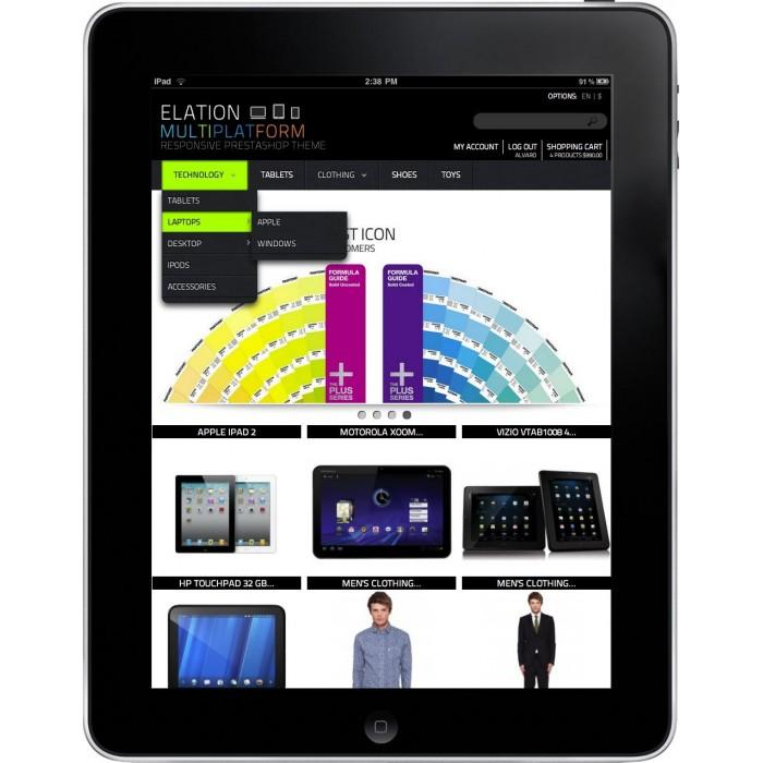 Elation Multi-Platform Responsive Design Theme