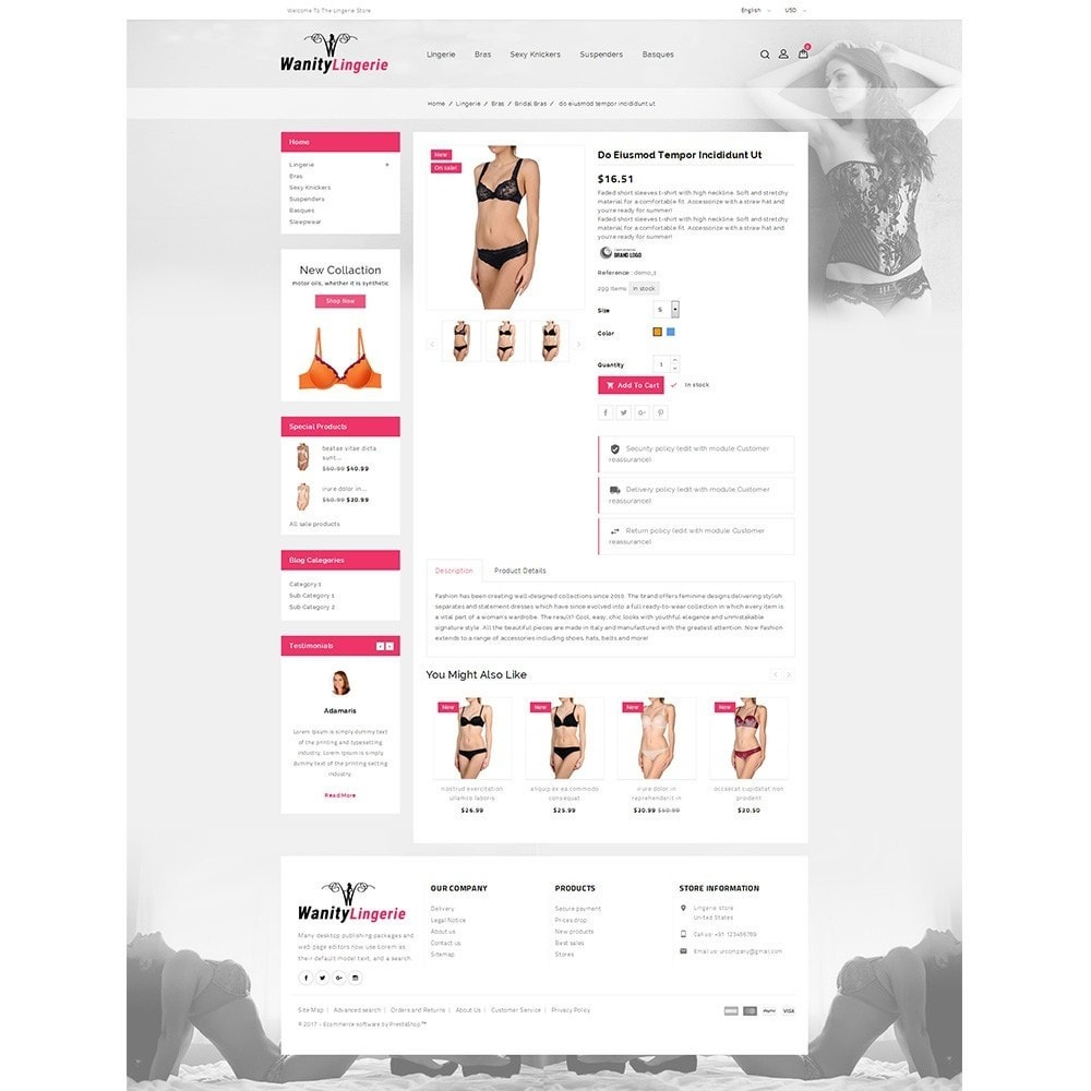 theme - Lingerie & Adultos - Wanity Lingerie Store - 5